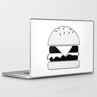 burger Laptop & iPad Skins featuring Burger  by Keep It Simple