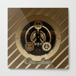 One Love (Brown) Metal Print