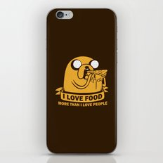 i love food more than i love people iPhone & iPod Skin