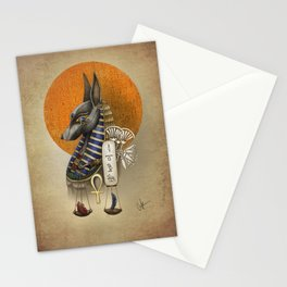 Anubis - Ancient Egyptian God of the dead Stationery Cards