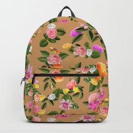 Frida Floral (Orange) Backpack