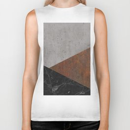 Concrete, Rusted Iron, Marble Abstract Biker Tank