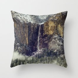 Bridalveil Fall  1-25-18 Throw Pillow