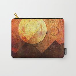 Sunrise over Mountain Range Carry-All Pouch