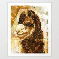 bucky Art Prints featuring Bucky  by Maritza Hernandez