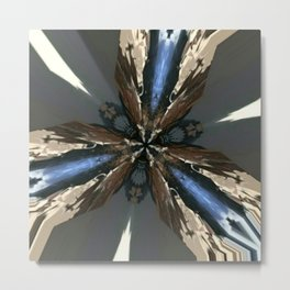 Blue Brown Grey Trigram Metal Print