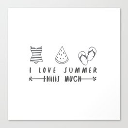 I love summer Canvas Print