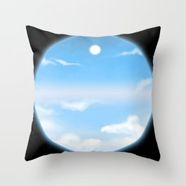 World Within Me - Blue Throw Pillow