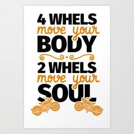 Biker motorcycle rider gift Art Print