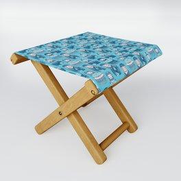 Matrioshkas Pattern Folding Stool