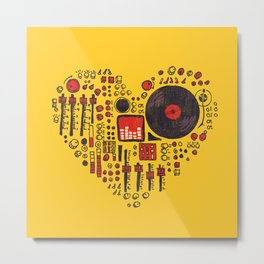 Music in every heartbeat Metal Print