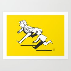 On a Chase Art Print