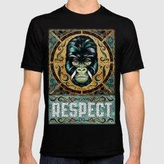 Respect MEDIUM Black Mens Fitted Tee