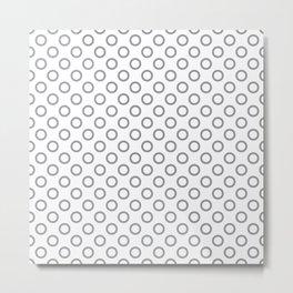Grey RIngs Metal Print