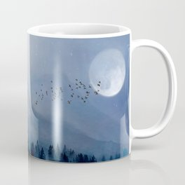 Mountainscape Under The Moonlight Coffee Mug