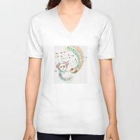 friendship V-neck T-shirts featuring Friendship by Valentina Cardana
