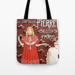 Dentifrice French belle epoque toothpaste ad Tote Bag