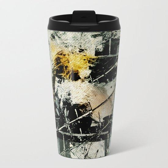 Lighthouse in Storm Metal Travel Mug