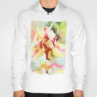 water colour Hoodies featuring Water colour parrot tulip by thea walstra