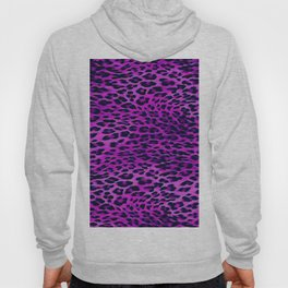 Purple Tones Leopard Skin Camouflage Pattern Hoody