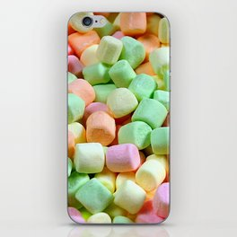 Colorful miniature marshmallows iPhone Skin