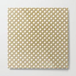 Wood Lattice Metal Print