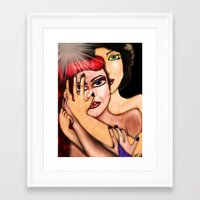 lesbian Framed Art Prints featuring Lesbian Love by Lala Alonsi
