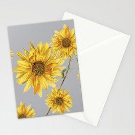 Sunflower Pattern 5 Stationery Cards