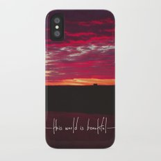 this world is beautiful Slim Case iPhone X