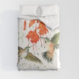 Hummingbird Watercolor Comforters