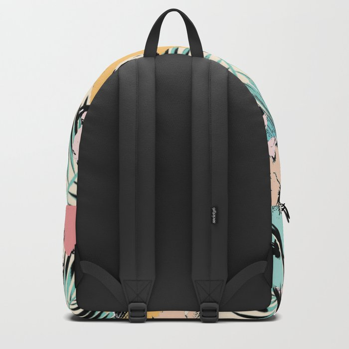 tropical pattern Backpack