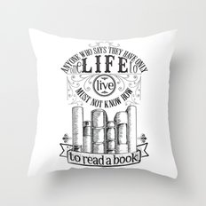 How To Read A Book Throw Pillow