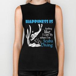 Scuba Diving T-Shirt Happiness When Im Scuba Diving Apparel Biker Tank