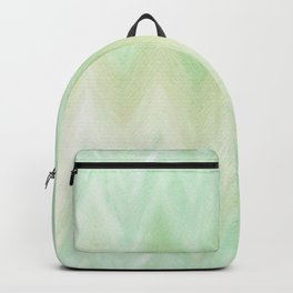 Hand painted mint green watercolor gradient chevron ikat Backpack