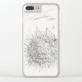 My favourite neurone by Tade Garben Clear iPhone Case
