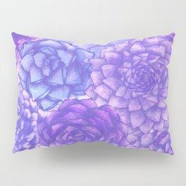 Lavendar Succulents Pillow Sham