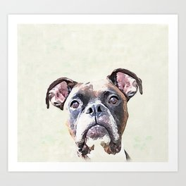 Brindle Boxer Dog Art Print