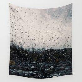 Rainy Grey Wall Tapestry