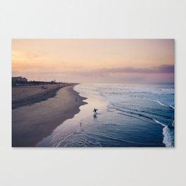 watercolor sunrise Canvas Print