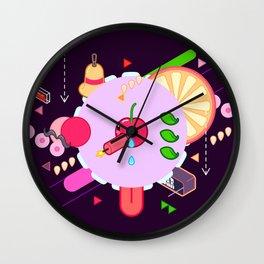Tasty Visuals - Cherry Poppin' (No Grid) Wall Clock