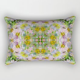 DAISEY MADNESS ABSTRACT  Rectangular Pillow