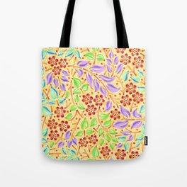 Sunshine Filigree Floral Tote Bag