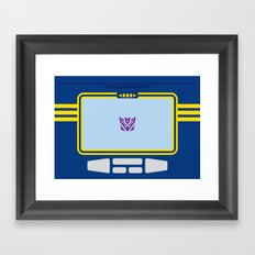 Soundwave Transformers Minimalist Framed Art Print