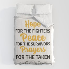 world cancer day commemorative Comforters