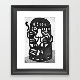 Magritte l'homme pipe sans la pipe Framed Art Print