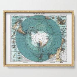 Antarctica Vintage map Serving Tray