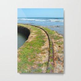 Old Tracks By The Ocean Metal Print