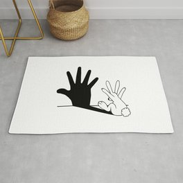 Rabbit Hand Shadow Rug