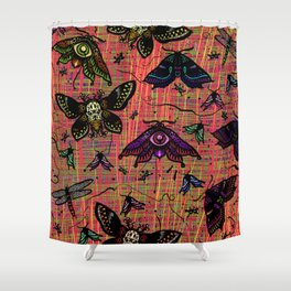 colour bugs Shower Curtain