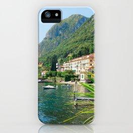 Beautiful Scenery in Menaggio Lake Como Italy iPhone Case